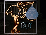 Lighted Stork Sign