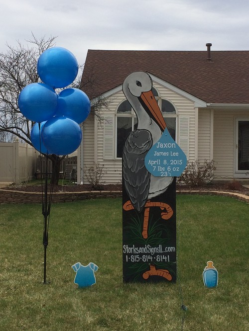 Twin Deluxe Stork Sign